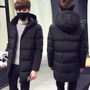 Thick down jacket in the long winter male man coat 2016 tide Levis hooded young men.