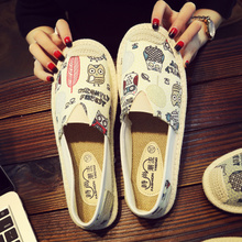 Prairie Princess pedal flat old Beijing shoes lady lazy leisure car Lianju fisherman canvas shoes spring