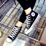 The fall of the new canvas shoes of male and female students high shoes shoes casual shoes shoes all-match Korean couple