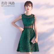 The banquet evening dress 2017 new autumn fashion Korean short dress dress female student party party