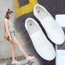 2018 spring new Korean students shoes wild white canvas shoes summer Harajuku ulzzang white shoes