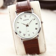 Fashion Korean Korean female students watch waterproof stylish belt men's watches a couple of quartz watch