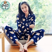 Coral fleece flannel pajamas female winter thick long sleeved suit in autumn and winter sweet Home Furnishing SUIT XL