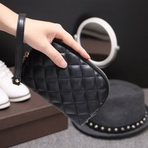 Female celebrities for 2017 new rhombic purse wallet mini mobile package Korean leather clutch bag