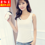 Lycra cotton knitted vest special offer every spring and autumn a female shirt slim sexy sleeveless blouse