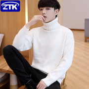 High-necked sweater male winter coat Korean Slim trend winter thickening men's sweaters students personality line clothing
