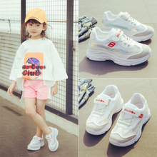 Children's sneaker women's shoes spring and autumn 2018 new shoes tide breathable Korean version net shoes summer small white boy shoes
