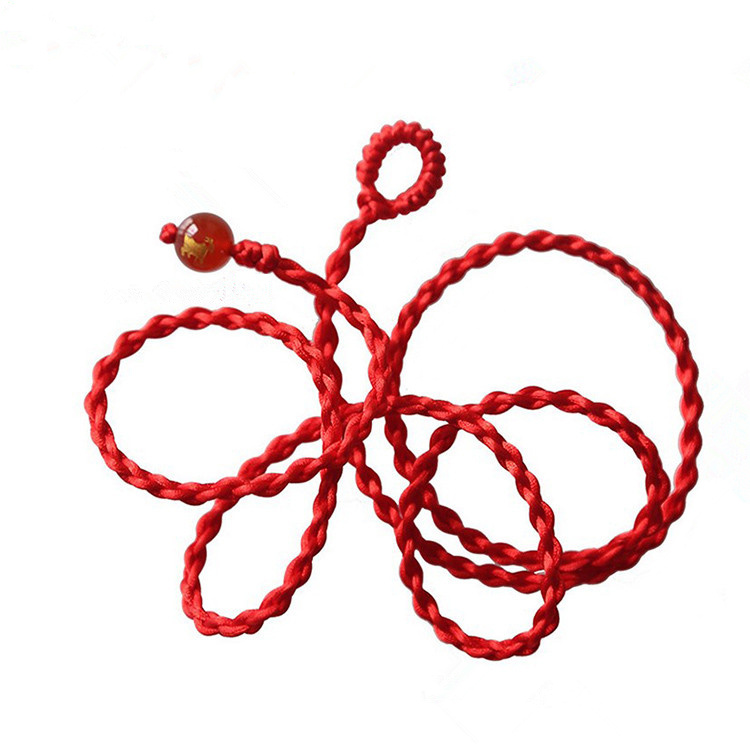 Year of fate red rope male and female Zodiac monkey chain transport evil chicken and crystal agate hot red belt