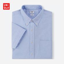 men's Oxford Slim shirt (short sleeve) 406043 Uniqlo UNIQLO