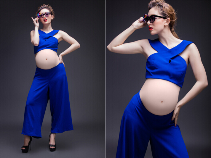 Studio maternity photo studio at the new 2017 pregnant women pregnant mother dress photography studio maternity clothing. 11-736