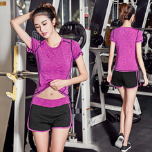 Female fitness suits summer female suit violence sweat female suits movement in South Korea female sexy female female summer suit set