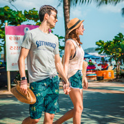 Sulang beach pants male quick dry beach loose couples dress casual shorts female five size swimming trunks tide