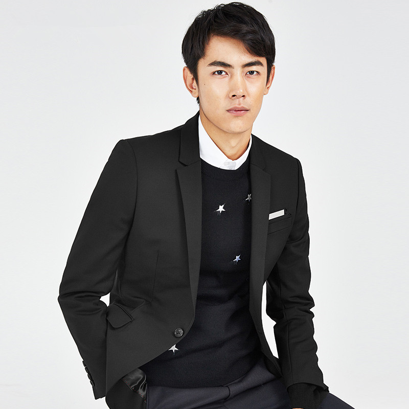 Special seven! Hot money! 17 autumn first edition men's Fashion Black Slim small suit, suit coat