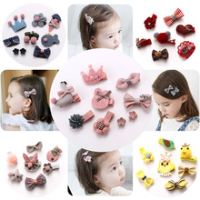 Child hairpin headdress princess bald clip baby hair less safety clip baby child hair clip hair ornaments crown