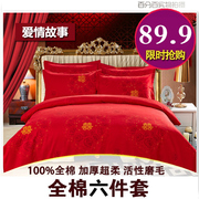 Special offer every day six sets of 100% thick cotton sanded cotton bedding four winter 1.8 2.0m six pounds