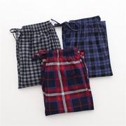 Autumn and winter warm men's single thin velvet pants pants pants Home Furnishing Plaid XL 2 fat bag mail