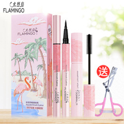 Penne eyeliner piuma fenicottero + flamingo mascara waterproof principianti non fiorenti make-up originali