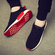 The fall male shoes sport shoes casual shoes trend of Korean men with winter cotton shoes and running shoes