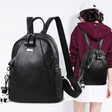 Backpack Korean fashion wild personality casual bag 2018 new tide pu soft leather backpack 2017 backpack