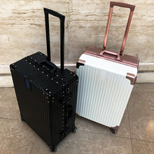 Luggage trolley trolley universal wheel suitcase 24 inch female male Korean version of the small fresh 20 retro right angle password box