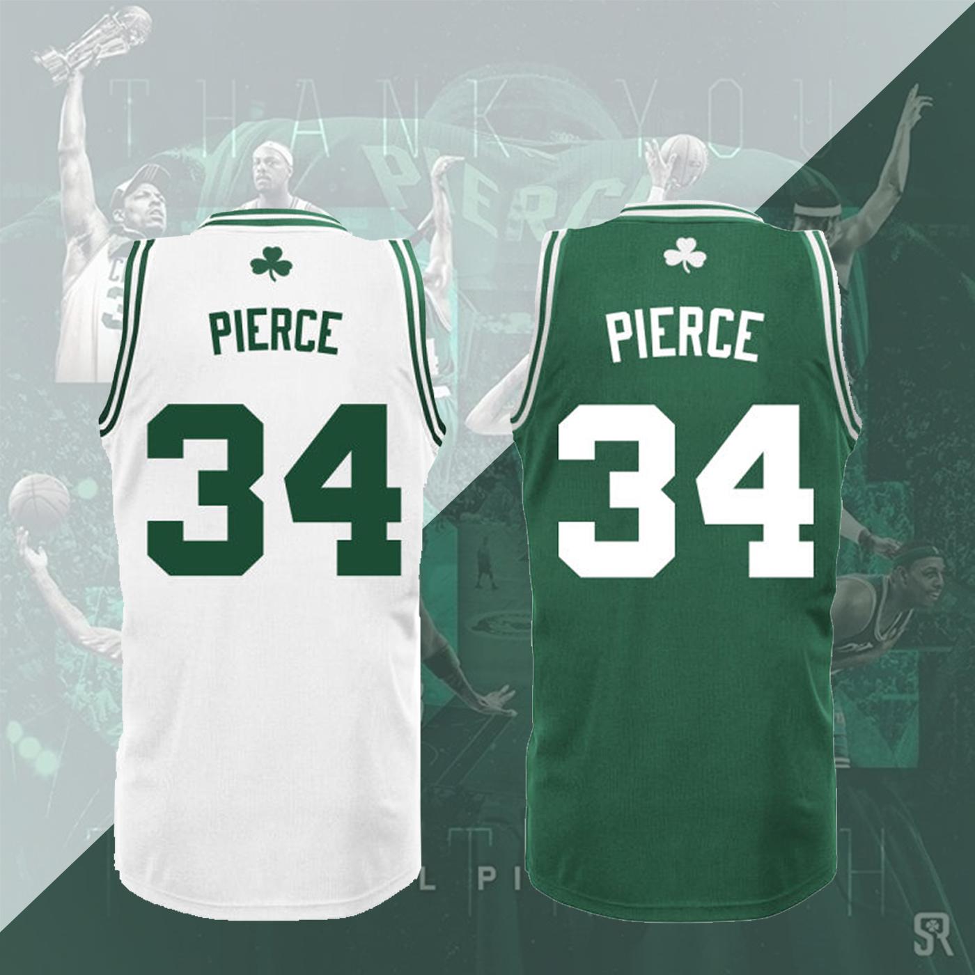 保罗皮尔斯退役纪念凯尔特人版型堪萨斯圣诞球衣通用GE绿色篮球服
