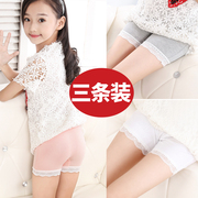 Girls' safety pants, baby exposed wardrobe, cotton three point shorts, children's underwear, lace, big children's Insurance pants, summer
