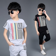 The child of 2017 children short suit summer new kids kids clothes boy summer sports two piece