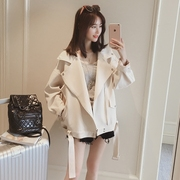 In the spring of 2017 new fashion loose white jacket women s casual jacket thin all-match students