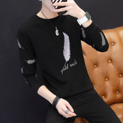 Mens Long sleeve t-shirt t-shirt trend Korea youth loose long sleeved Sweater Shirt Jacket Mens clothes