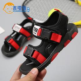 吉塔猪男童凉鞋2018夏季新款儿童鞋男韩版潮中大童宝宝小孩沙滩鞋