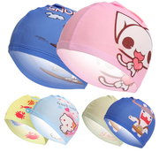 Cute cartoon printing children swimming cap fashion comfort children baby shower cap multicolor optional cloth hat wholesale