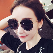 Metal frame Polarized Sunglasses female tide 2017 South Korea GM network with glasses glasses glasses