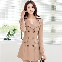 Added fat fat fat mm XL long coat girl fat 200 pounds good for fat women slim trench coat