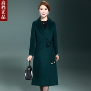 High-end genuine cashmere coat women long 2017 ladies new old wool coats for fall/winter coats