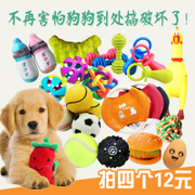 Dog bite dog toy molar vocal training toy ball Teddy Husky Puppies golden pet products