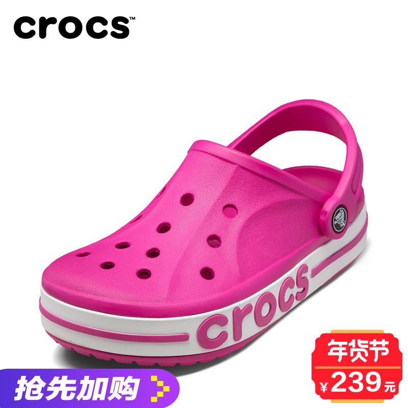 Crocs卡骆驰沙滩鞋夏季贝雅卡骆班情侣洞洞鞋男女沙滩凉鞋|205089