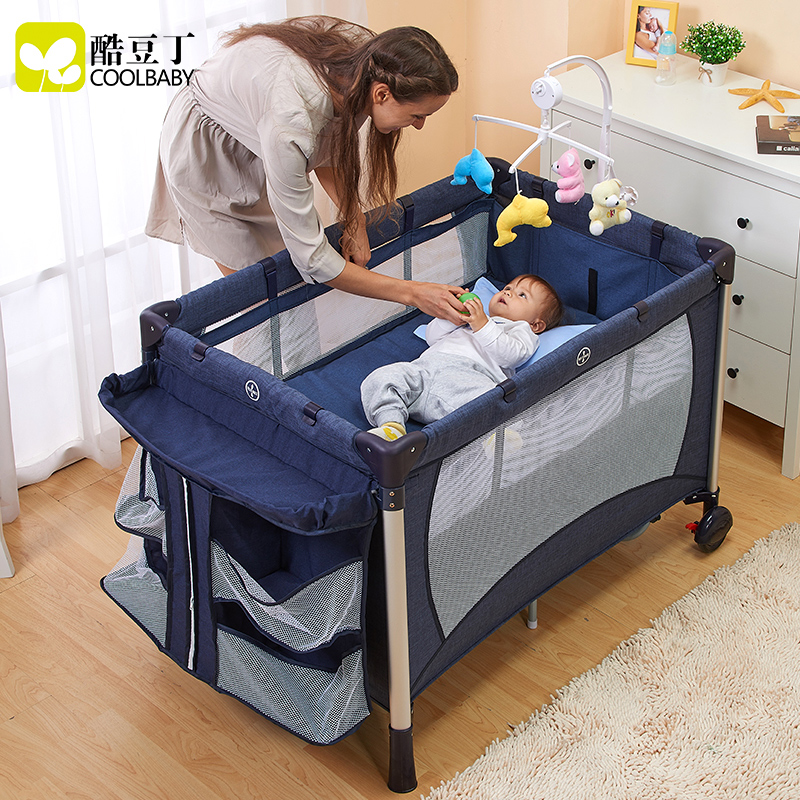 Coolbaby children's bed, multi-function folding baby bed, portable BB bed, European baby bed, child cradle