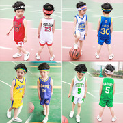 Boys basketball suit summer 2017 new summer kids children baby vest shorts sportswear for men and women