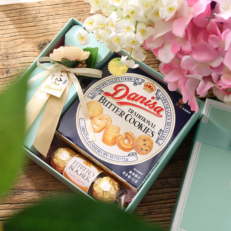 森系欧式结婚礼满月百日喜糖盒糖果婚庆定制高档创意伴手礼回礼盒