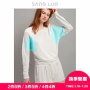 Sangluo sangluo harness pajamas suit female comfort can wear bat sleeve sweater sports and leisure home service