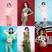 The new 2017 pregnant women photographed clothing han edition fashion mummy photography photo studio photography clothing personality the pregnant woman