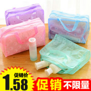 Travel bag female cute transparent waterproof makeup bag bulk wash bag bag small portable