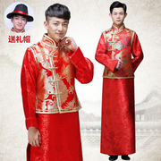 Wo Men's clothing show Chinese dress wedding dress gown jacket groom dragon tunic Wedding Gown Costume Costume