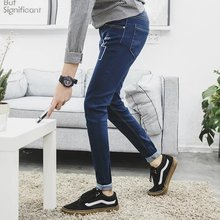 Japanese winter, stretch jeans jeans young male Korean men fall slim type long pants trend