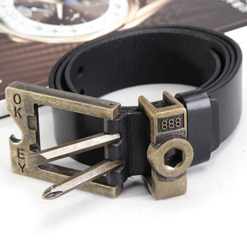 Boyfriend send Christmas man type multifunctional belt bottle opener belt outdoor belt belt wrench