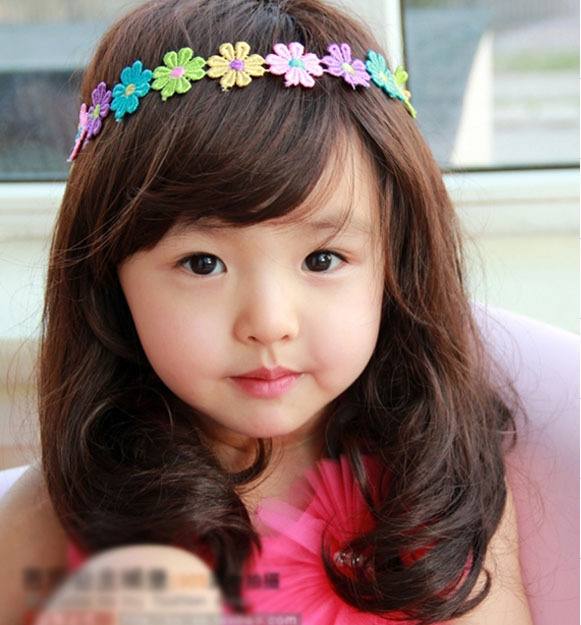 Korean Baby Infant Girls wig wig wig photography long long wavy hair good quality