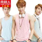 3 men nanjiren vest male fitness workout cotton Summer Youth Han Banchao Khan's backing