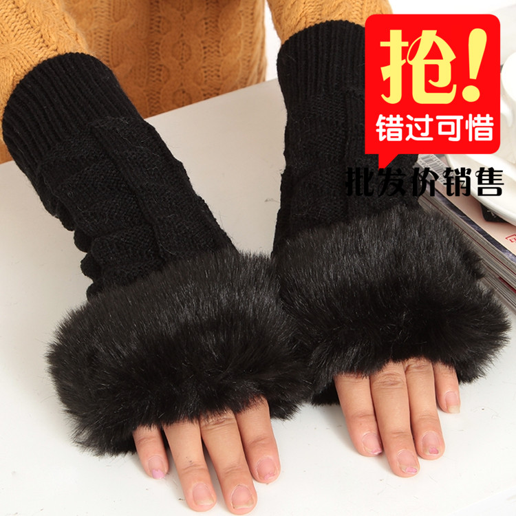 2015, autumn and winter fashion ladies gloves, lengthened hand guard, warm with a hundred, with hair, popular multi sleeve, special wholesale
