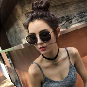 Sunglasses, 2017 new round South Korean sunglasses, ladies, tide stars, eyes, round faces, elegant personality glasses