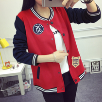 200 mm fat and fat ladies XL leisure students in autumn and winter baseball uniform jacket long sleeve Jacket Womens t